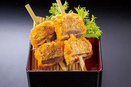 牛たんチーズ串揚