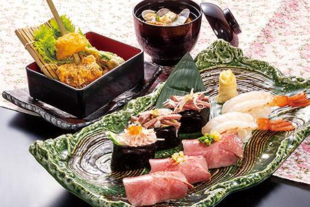 牛たん生海老寿司ランチ